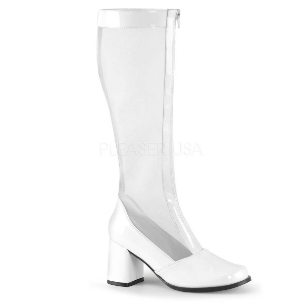 GOGO 307 ° Damen Stiefel ° Weiß Glänzend ° Funtasma