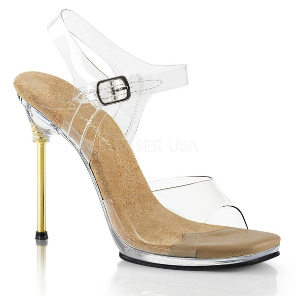 CHIC 08 ° Damen Sandalette ° TransparentMatt ° Fabulicious
