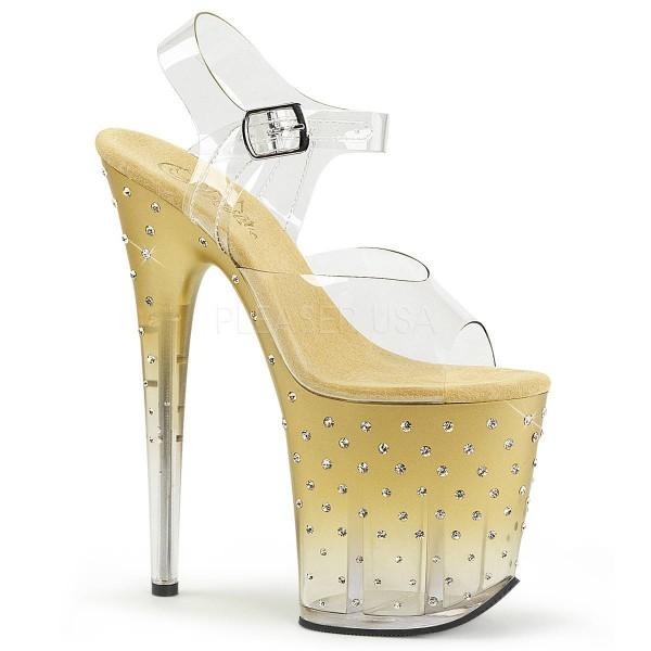 STARDUST 808T ° Damen Sandalette ° TransparentMatt ° Pleaser