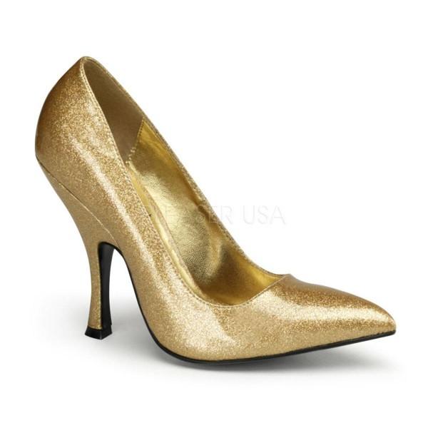 BOMBSHELL 01G ° Damen Pumps ° Gold Glänzend ° Pin Up Couture