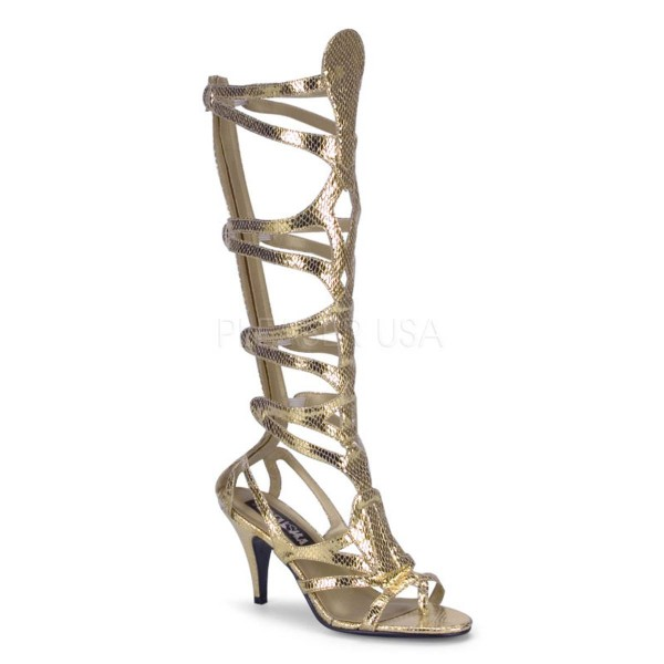 GODDESS 12 ° Damen ägyptische Sandalette ° Gold Matt ° Funtasma