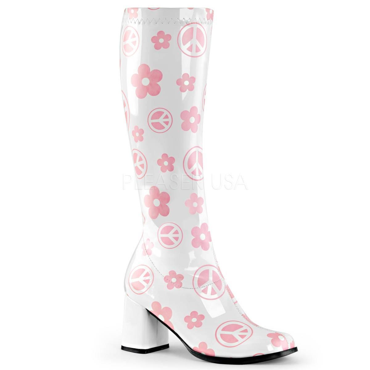 Stiefel für Frauen - GOGO 300FL ° Damen Stiefel ° Weiß Rosa Glänzend ° Funtasma  - Onlineshop RedSixty