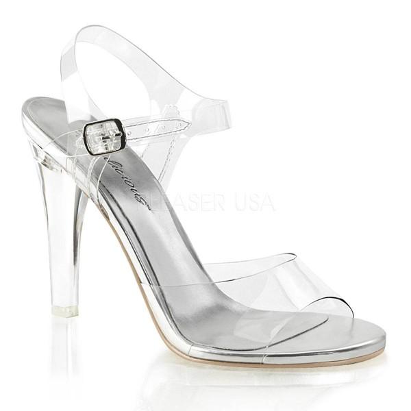 CLEARLY 408 ° Damen Sandalette ° TransparentMatt ° Fabulicious