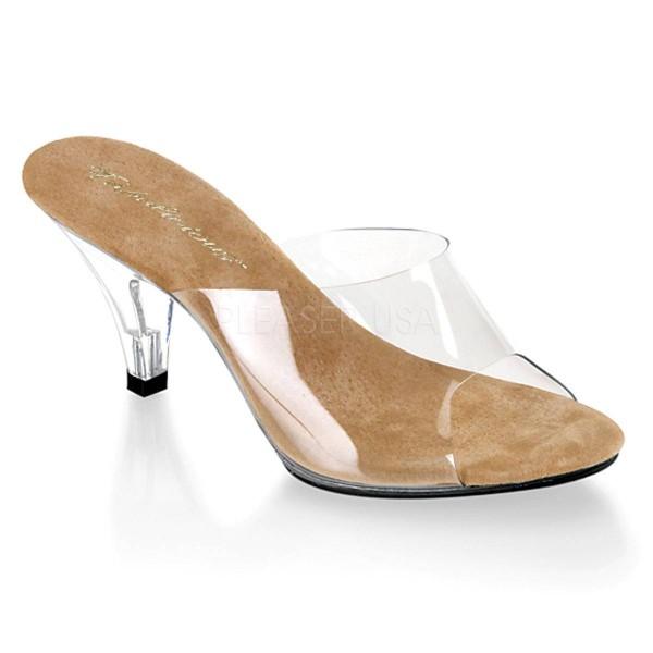 BELLE 301 ° Damen Sandalette ° Transparent Matt ° Fabulicious