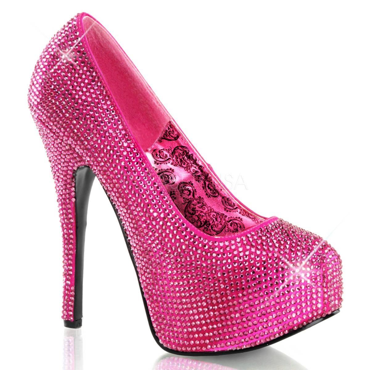 Highheels - TEEZE 06R ° Damen Pumps ° Pink Satin ° Bordello  - Onlineshop RedSixty