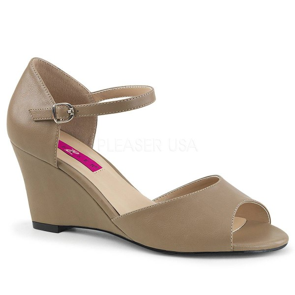 KIMBERLY 05 ° Damen Sandalette ° BeigeMatt ° Pleaser Pink Label