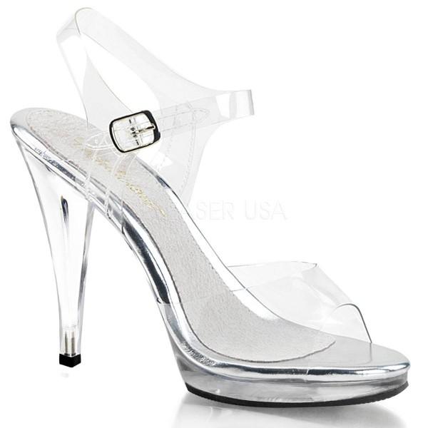 FLAIR 408 ° Damen Sandalette ° Transparent Matt ° Fabulicious