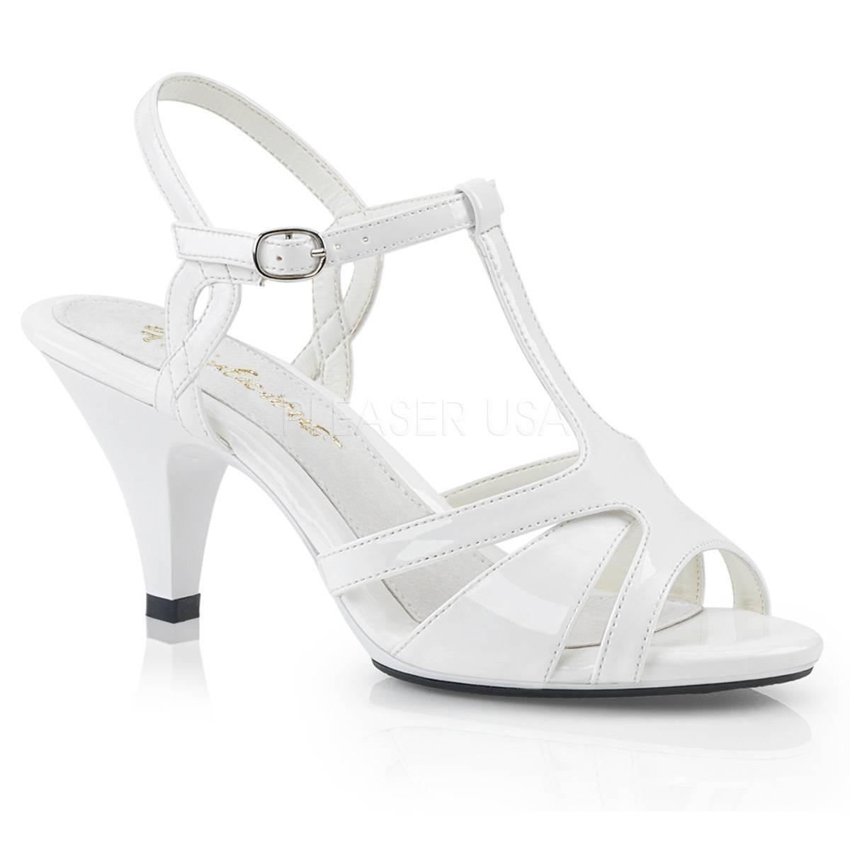 Sandalen - BELLE 322 ° Damen Sandalette ° WeißGlänzend ° Fabulicious  - Onlineshop RedSixty