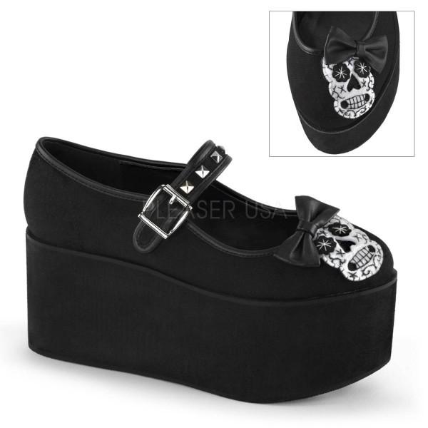 CLICK 02 3 ° Damen Boots ° Schwarz Matt ° Demonia