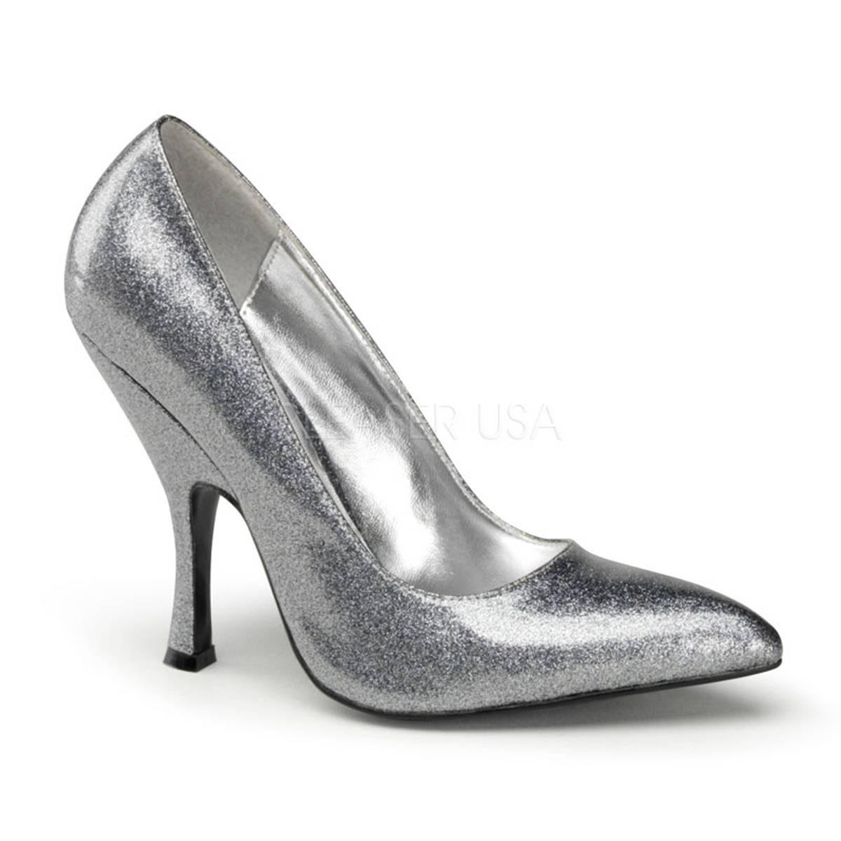 Pumps - BOMBSHELL 01G ° Damen Pumps ° Silber Glänzend ° Pin Up Couture  - Onlineshop RedSixty
