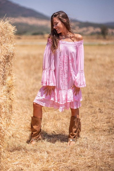 Tarifa Soul ° Midikleid Aloha ° Pink ° OneSize