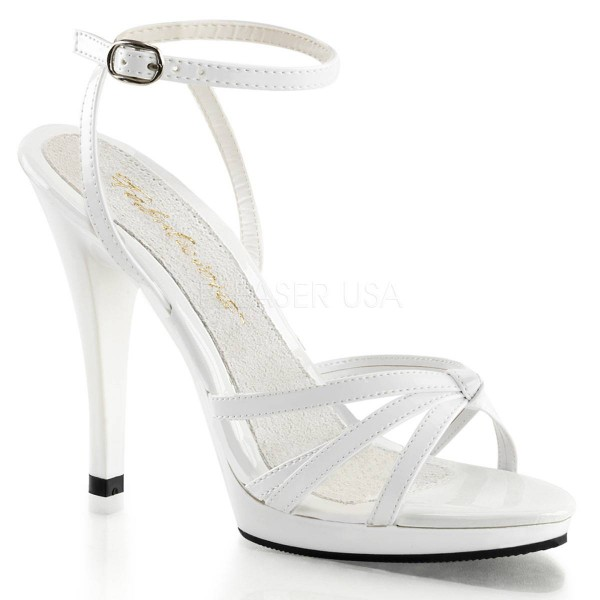FLAIR 436 ° Damen Sandalette ° Weiß Glänzend ° Fabulicious