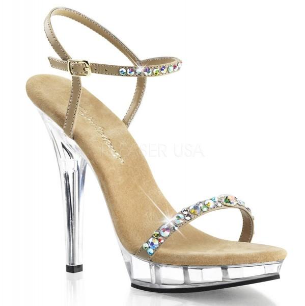 LIP 131 ° Damen Sandalette ° Beige Matt ° Fabulicious
