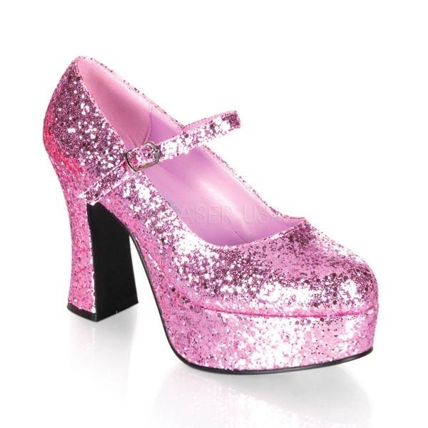 MARYJANE 50G ° Damen Pumps ° Pink Glitter ° Funtasma