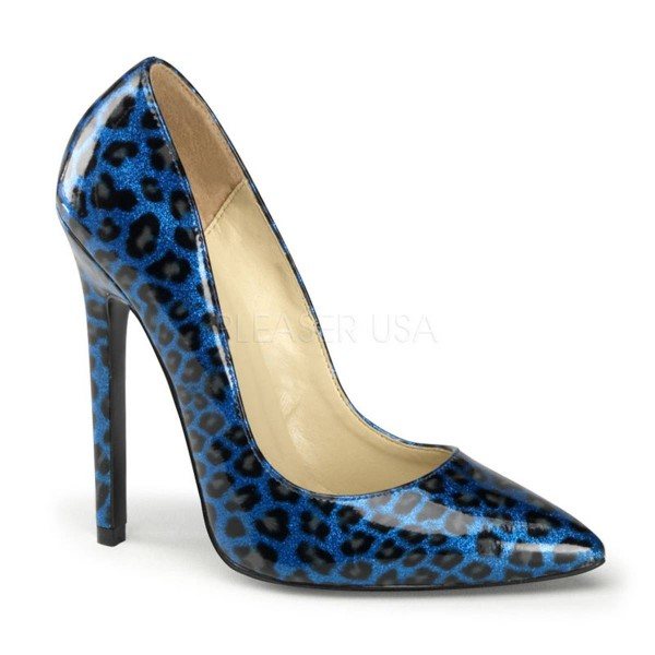 SEXY 20 ° Damen Pumps ° Blau Glänzend ° Pleaser