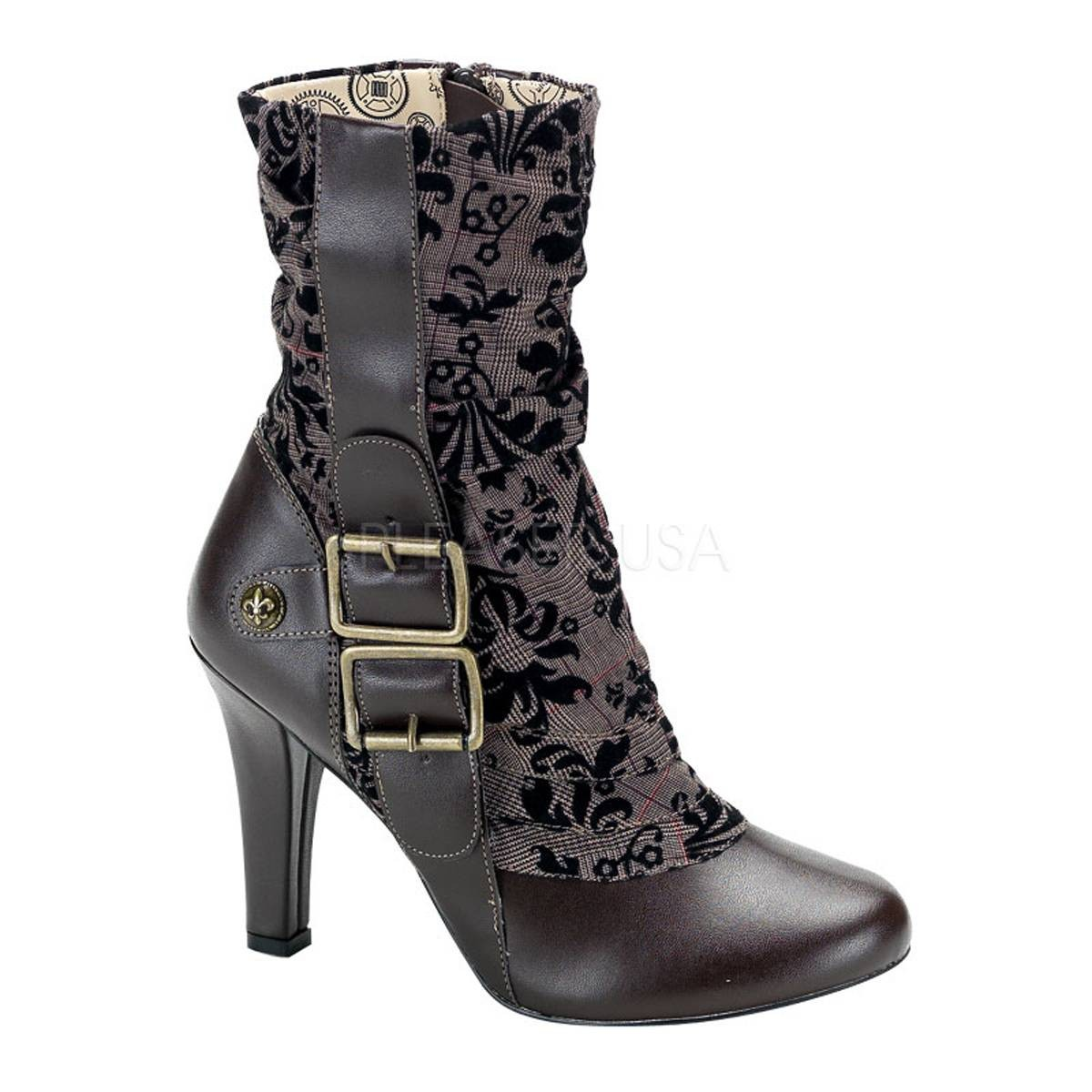 Stiefel - TESLA 106 ° Damen Stiefelette ° Braun Matt ° Demonia  - Onlineshop RedSixty