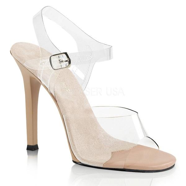 GALA 08 ° Damen Sandalette ° TransparentMatt ° Fabulicious