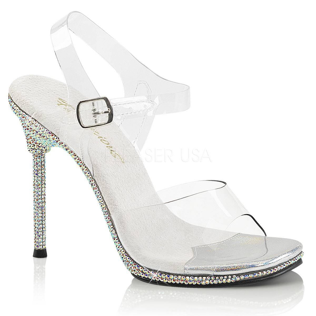 Highheels für Frauen - CHIC 08DM ° Damen Sandalette ° TransparentMatt ° Fabulicious  - Onlineshop RedSixty