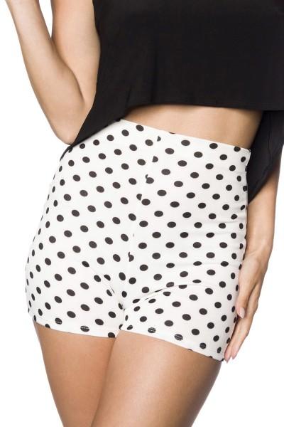 High Waist Shorts ° Weiß-Schwarz ° Hipstylers