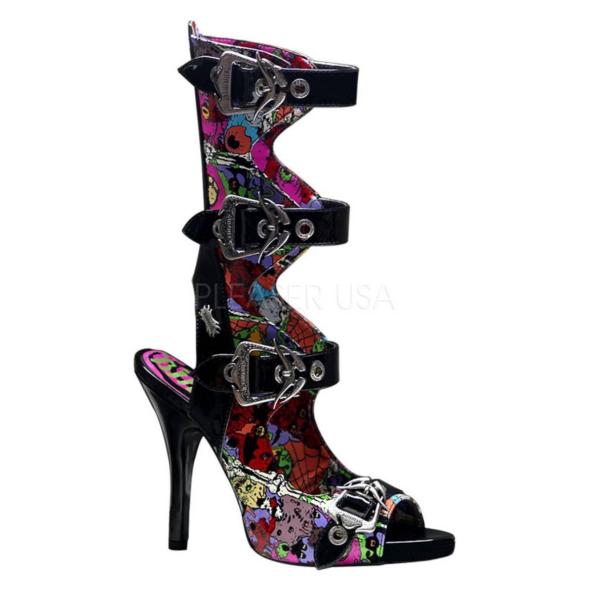 Sandalen - ZOMBIE 102 ° Damen Sandalette ° Mehrfarbig Glänzend ° Demonia  - Onlineshop RedSixty