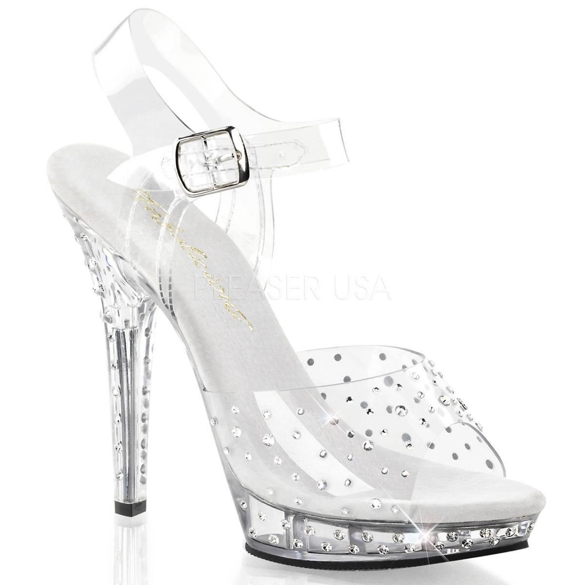 Sandalen für Frauen - LIP 108RS ° Damen Sandalette ° Transparent Matt ° Fabulicious  - Onlineshop RedSixty