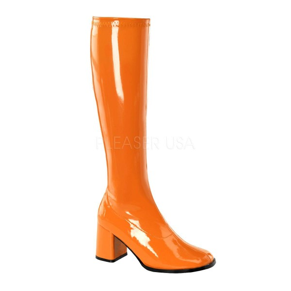 GOGO 300 ° Damen Stiefel ° Orange Glänzend ° Funtasma