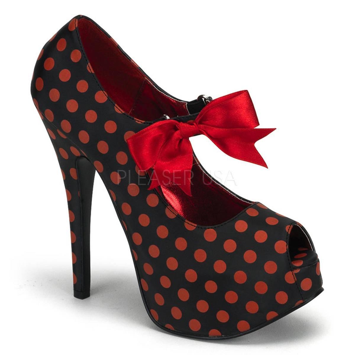 Highheels für Frauen - TEEZE 25 ° Damen Pumps ° Schwarz Rot Matt ° Bordello  - Onlineshop RedSixty