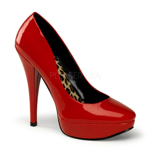 HARLOW 01 ° Damen Pumps ° Rot Glänzend ° Pin Up Couture