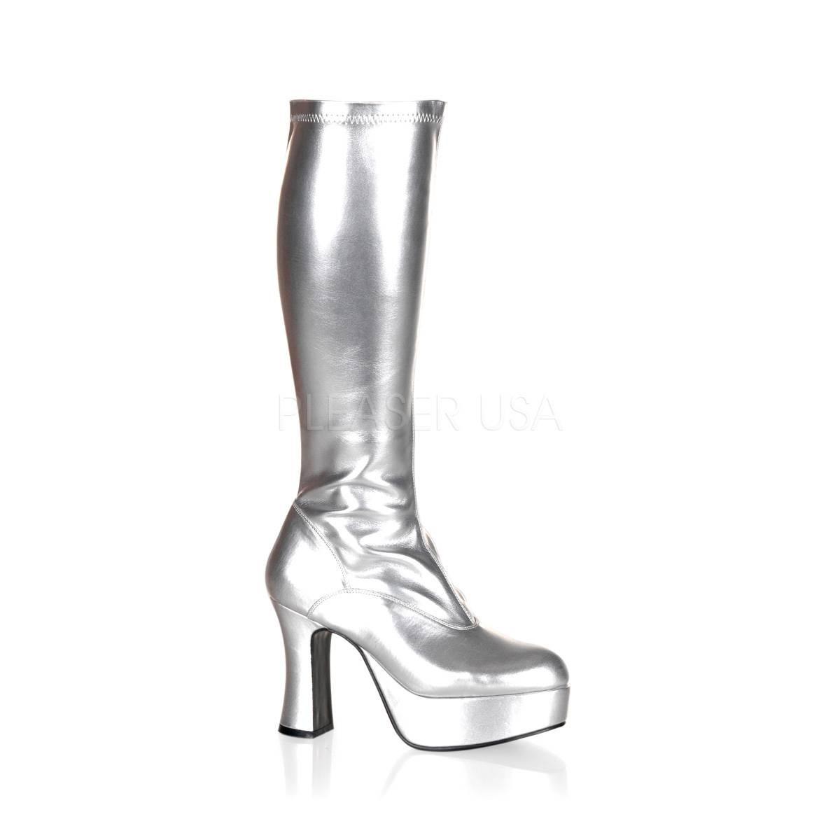 Stiefel - EXOTICA 2000 ° Damen Stiefel ° Silber Glänzend ° Funtasma  - Onlineshop RedSixty