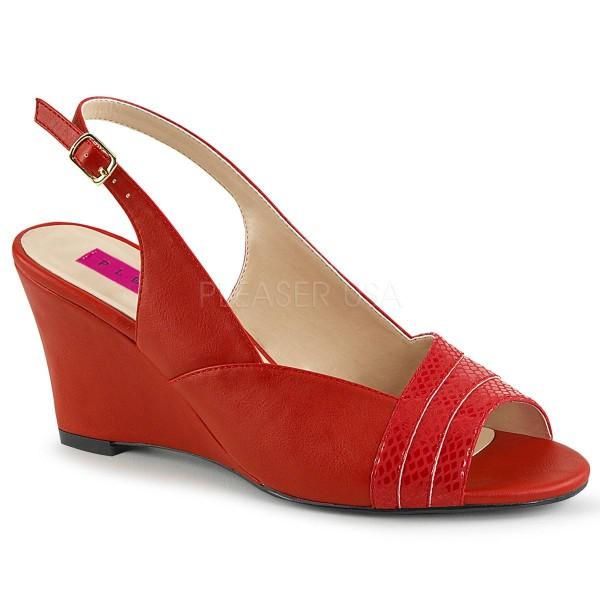 KIMBERLY 01SP ° Damen Sandalette ° RotMatt ° Pleaser Pink Label