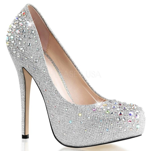 DESTINY 06R ° Damen Pumps ° Silber Matt ° Fabulicious