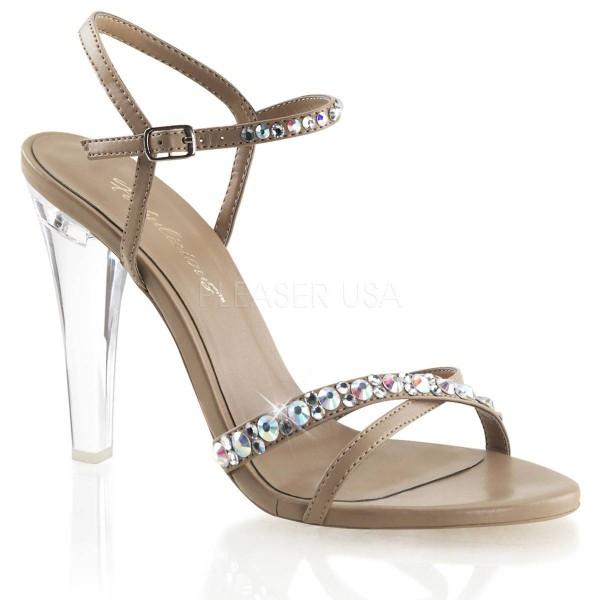 CLEARLY 415 ° Damen Sandalette ° Beige Matt ° Fabulicious