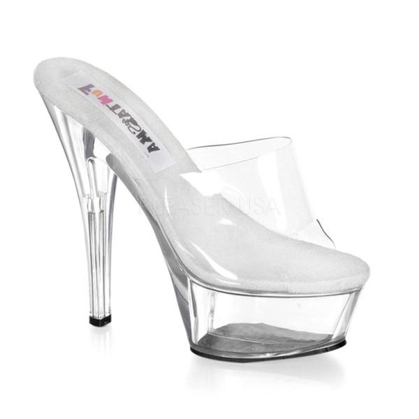 PRINCESS 201 ° Damen Sandalette ° Transparent Matt ° Funtasma