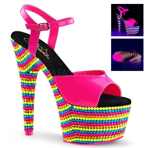 ADORE 709RBS ° Damen Sandalette ° Pink Glänzend ° Pleaser