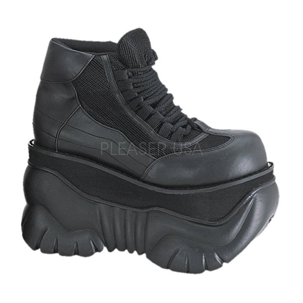 BOXER 01 ° Unisex Cyper Sneaker ° Schwarz Matt ° Demonia