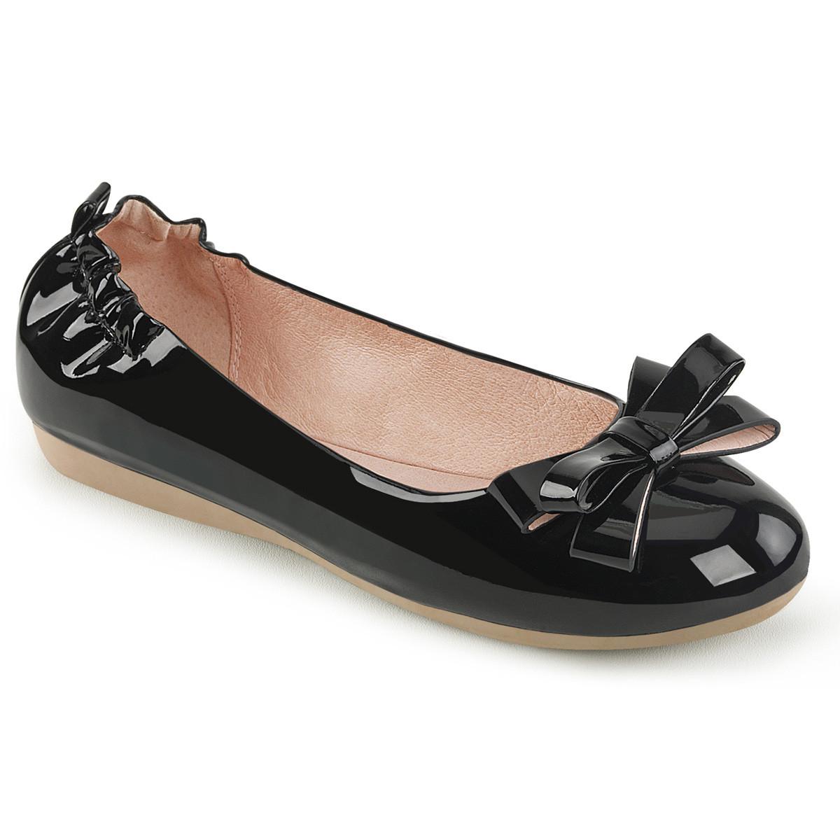 Ballerinas - OLIVE 03 ° Damen Ballerina ° Schwarz ° Lack ° Pin Up Couture  - Onlineshop RedSixty