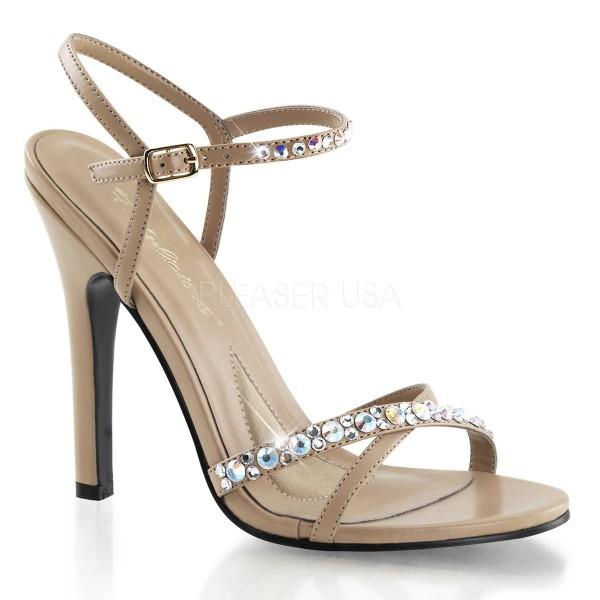 MELODY 15 ° Damen Sandalette ° Elfenbein Matt ° Fabulicious