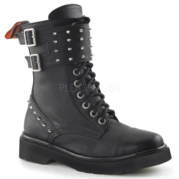 RIVAL 309 ° Damen Combat Boots ° Schwarz Matt ° Demonia