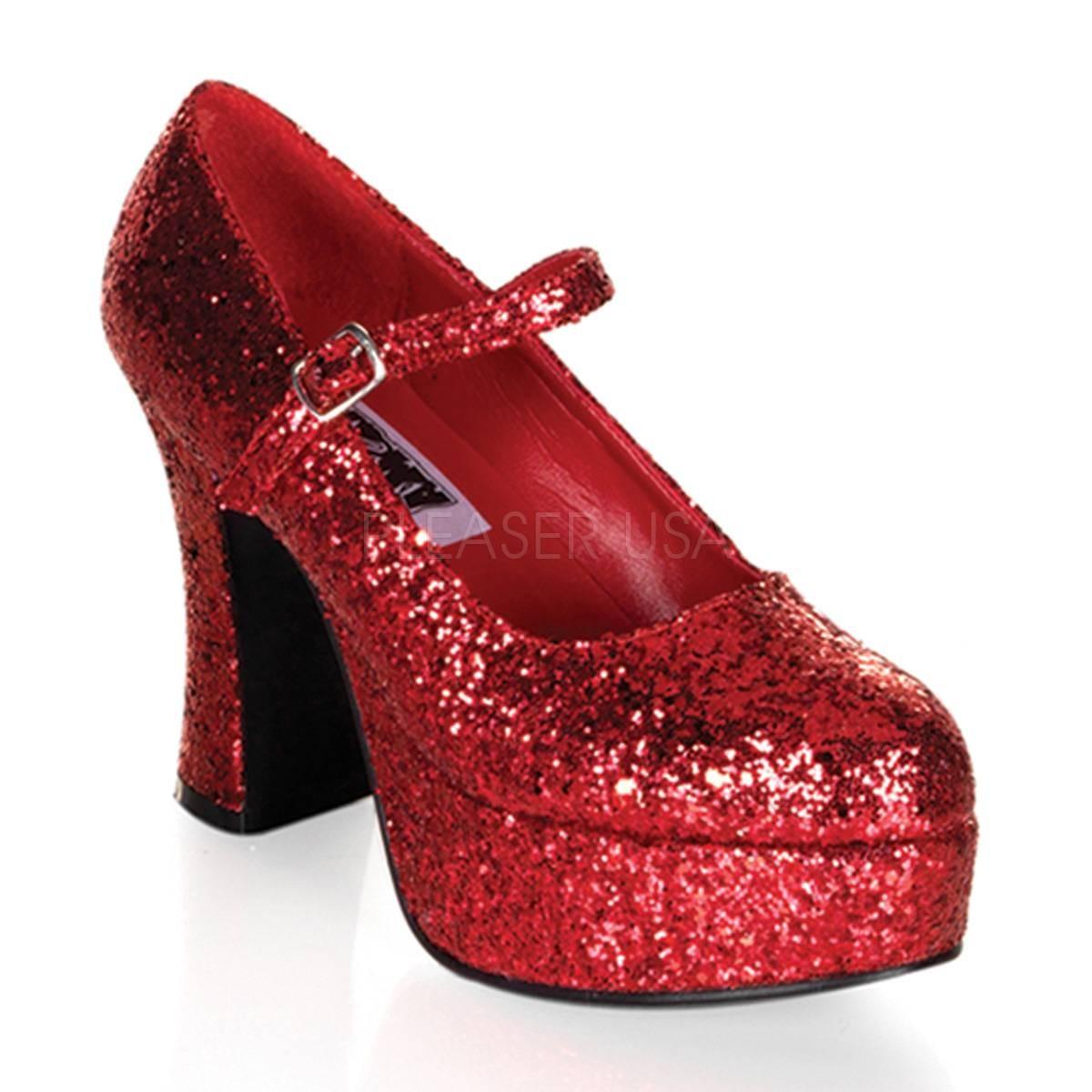 Pumps - MARYJANE 50G ° Damen Pumps ° Rot Glitter ° Funtasma  - Onlineshop RedSixty