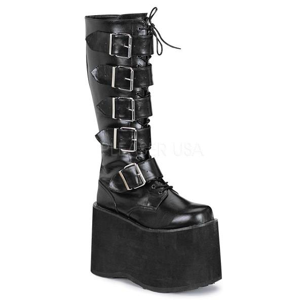 MEGA 618 ° Unisex Cyber Boots ° Schwarz Matt ° Demonia