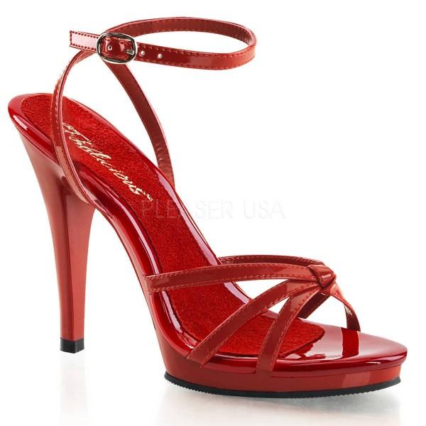 FLAIR 436 ° Damen Sandalette ° Rot Glänzend ° Fabulicious