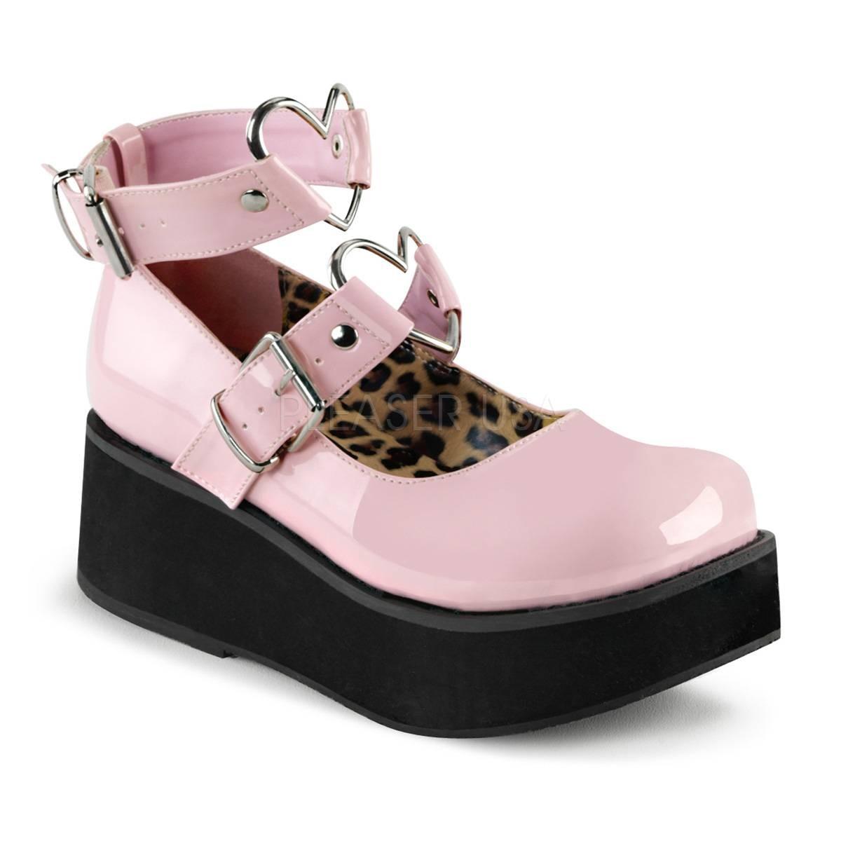 Ballerinas - SPRITE 02 ° Damen Plateau Ballerina ° Pink Glänzend ° Demonia  - Onlineshop RedSixty