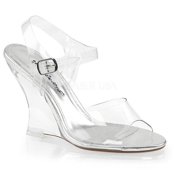 LOVELY 408 ° Damen Sandalette ° TransparentMatt ° Fabulicious
