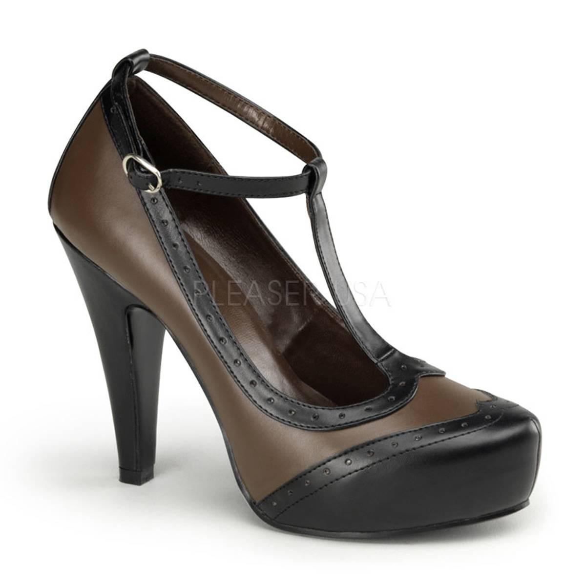 Pumps - BETTIE 22 ° Damen Pumps ° Schwarz Braun Matt ° Pin Up Couture  - Onlineshop RedSixty