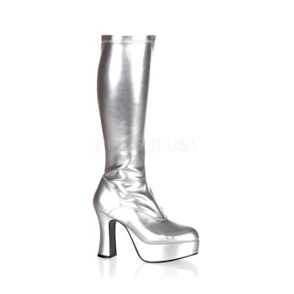 EXOTICA 2000 ° Damen Stiefel ° Silber Glänzend ° Funtasma