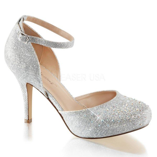 COVET 03 ° Damen Pumps ° Silber Matt ° Fabulicious