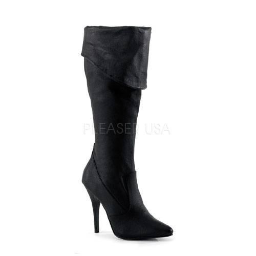 Stiefel für Frauen - SEDUCE 2013 ° Damen Stiefel ° Schwarz Leder ° Pleaser  - Onlineshop RedSixty
