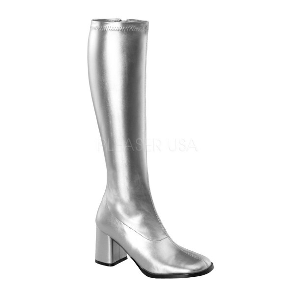 GOGO 300 ° Damen Stiefel ° Silber Matt ° Funtasma