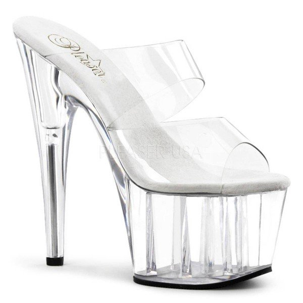 ADORE 702 ° Damen Sandalette ° Transparent Matt ° Pleaser