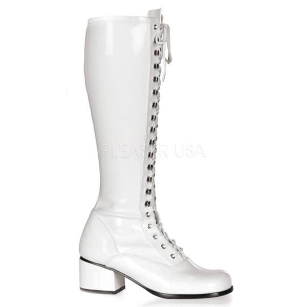 RETRO 302 ° Damen Stiefel ° Weiß Glänzend ° Funtasma